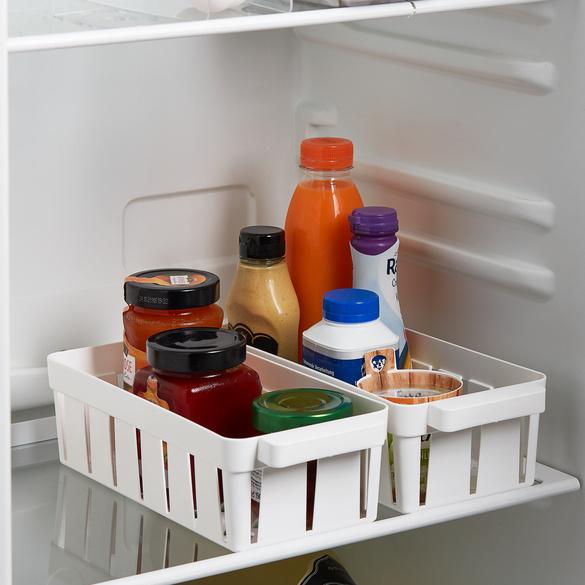 Lot de 2 paniers réfrigérateur, blanc
