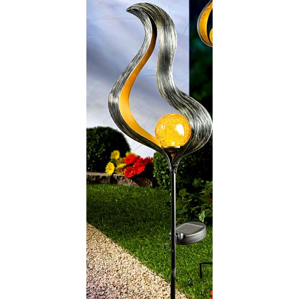 lampe solaire design flamme b vitrine magique