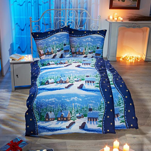 Parure de lit « Village hivernal »,