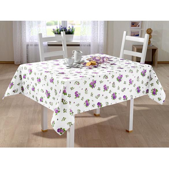 Nappe Fleurs, violet 120x160 cm