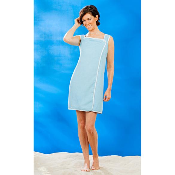 Robe de bain, bleu