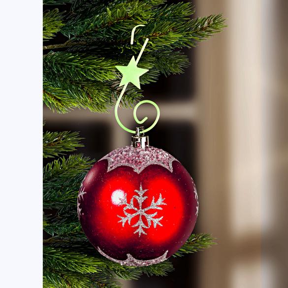 30 crochets phosphorescents pour boules de Noël, Référence: 1245500