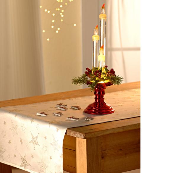 Bougies à LED avec bougeoir