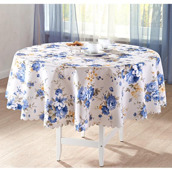 Nappe Fleurs bleues, 160 cm