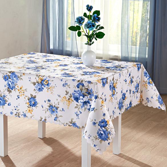 Nappe Fleurs bleues, 140x180 cm