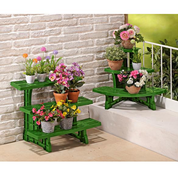 Banc d'angle pour plantes