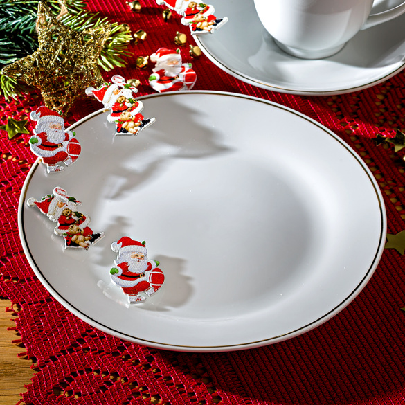 12 Decorations Pere Noel Vitrine Magique
