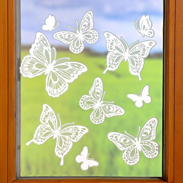Décoration de fenêtre Papillons dentelle
