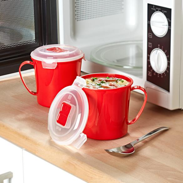 Lot de 2 bols à soupe pour micro-ondes