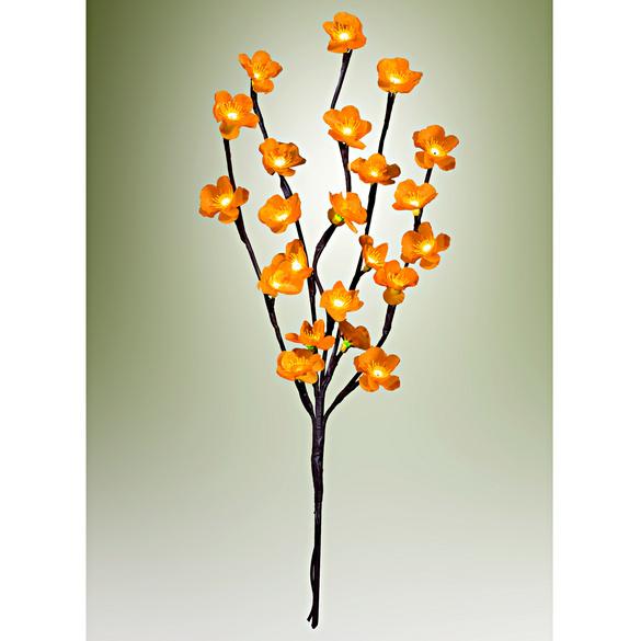 Branche Lumineuse Fleurs Jaunes Vitrine Magique