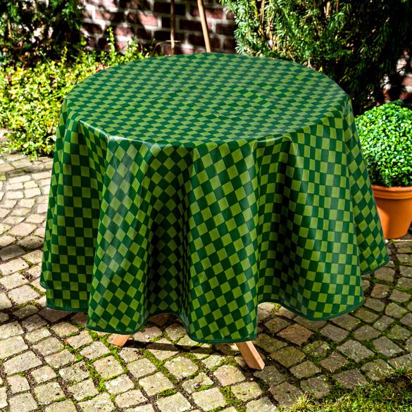 Nappe Carreaux ronde 140 cm, vert