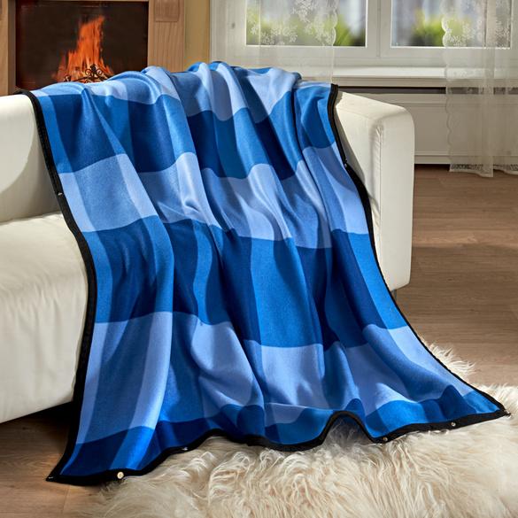 Couverture cocoon, bleu