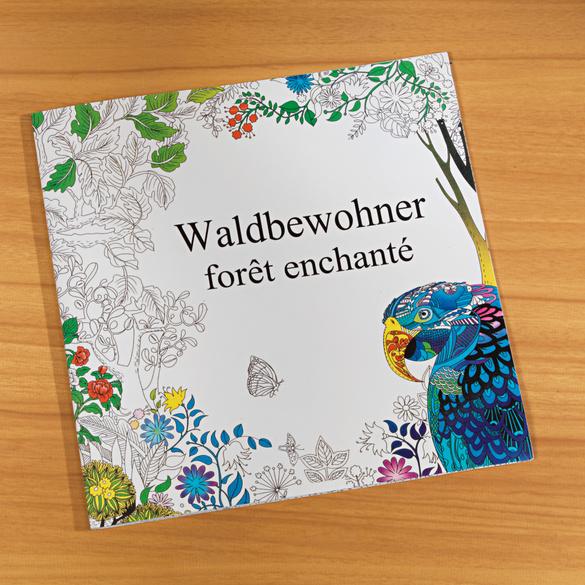 Livre de coloriage Forêt enchantée