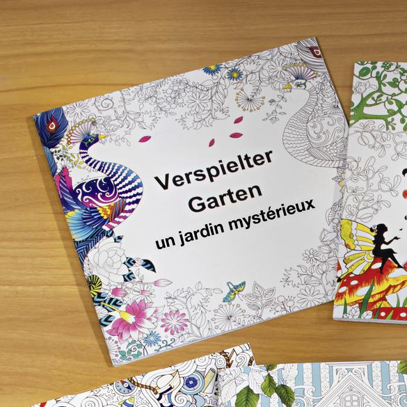Livre de coloriage Jardin enchanté