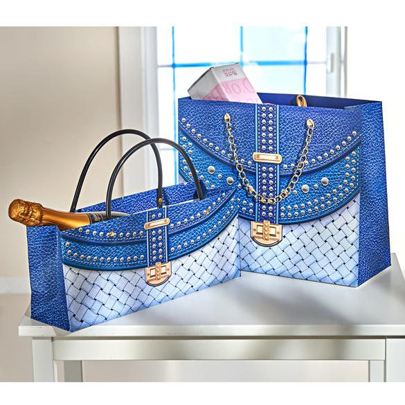 Lot de 2pochettes-cadeaux, bleu