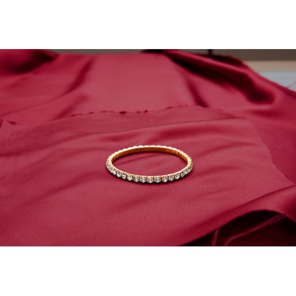 Bracelet à strass, coloris or