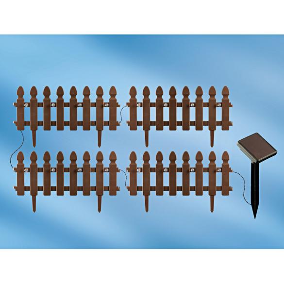 Lot de 4 éléments de clôture solaires