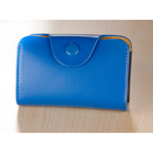 Porte-cartes, bleu