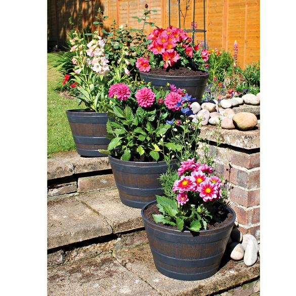 Lot de 2 pots de fleurs