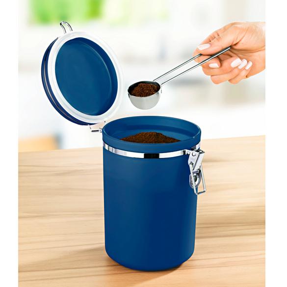 Boîte à café, bleu
