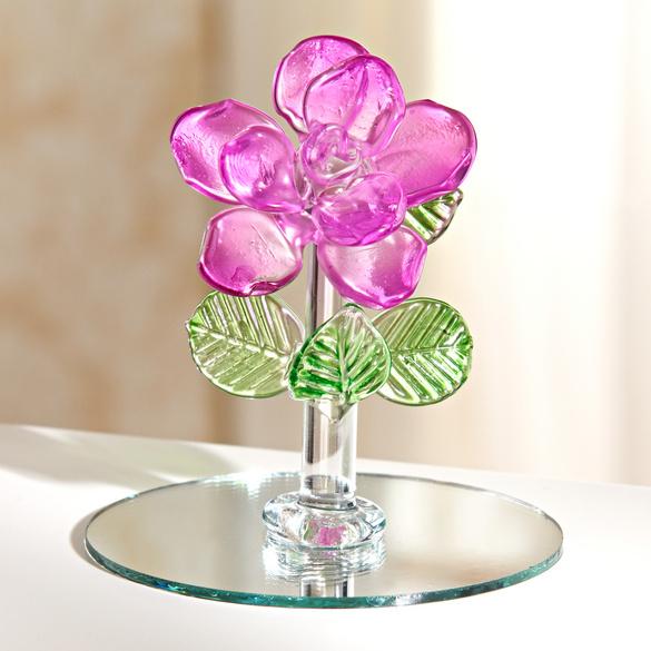 Fleur en cristal vitrine magique for Ecran en miroir