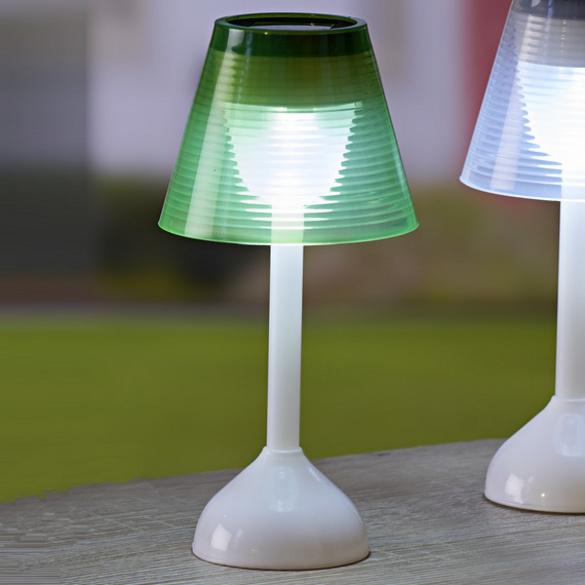 Lampe de table solaire, vert pâle