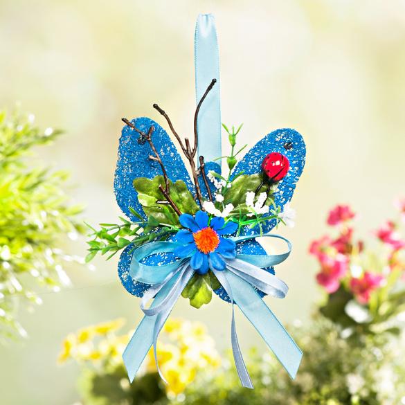 Papillon sisal, bleu