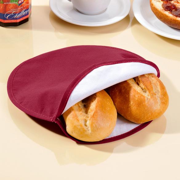 Réchauffe-pain spécial micro-ondes, bordeaux