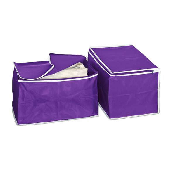 2 boîtes de rangement, violet