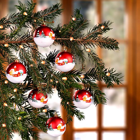 6 boules de Noël, Village