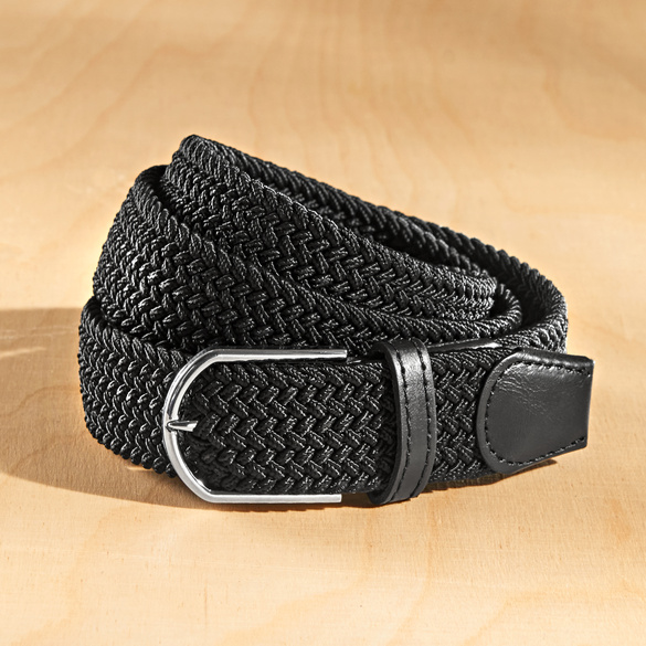 Lot de 2 ceintures, noir/blanc