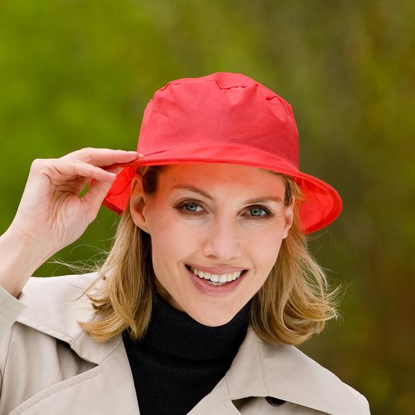 Chapeau de pluie pliable, rouge