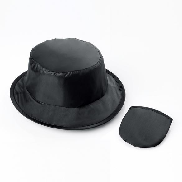Chapeau de pluie pliable, noir