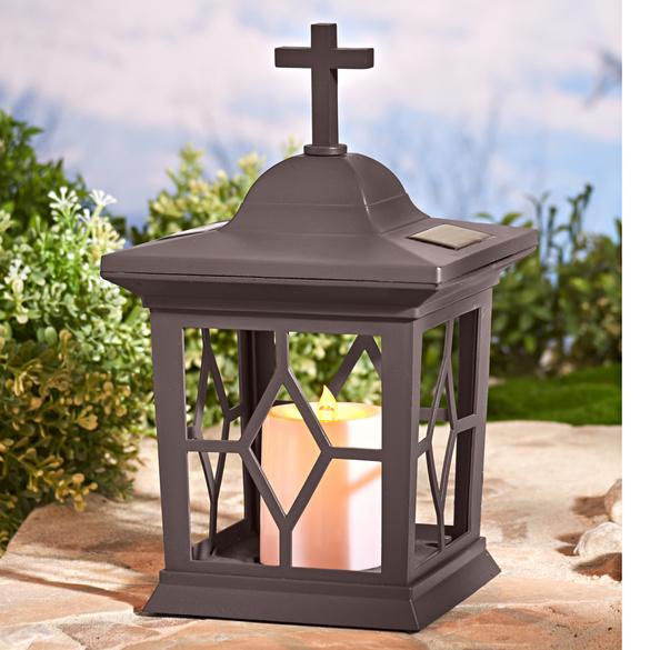 Lanterne solaire pour pierre tombale