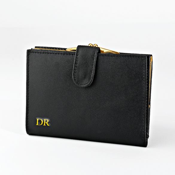 Porte-monnaie femme, noir personnalisé