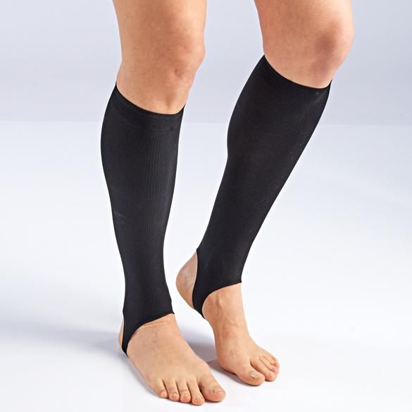 Lot de 2 paires de jambières confort femme, noir
