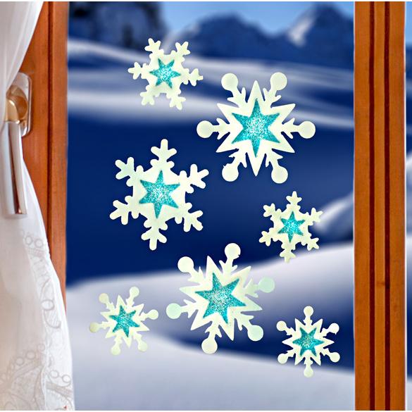 Décors de fenêtre Flocons de neige