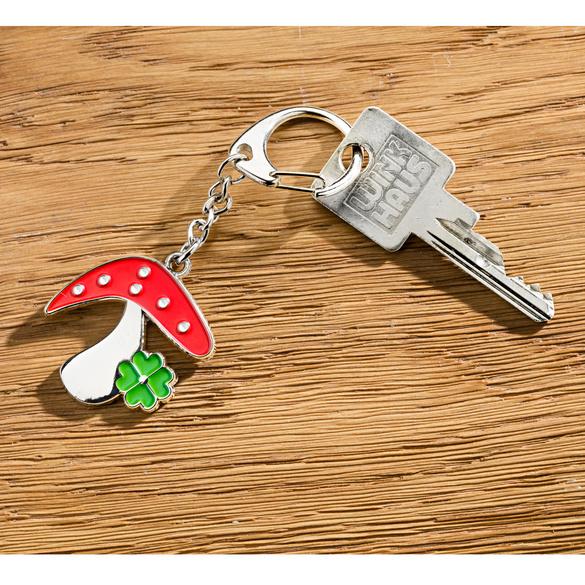 Porte-clés champignon porte-bonheur