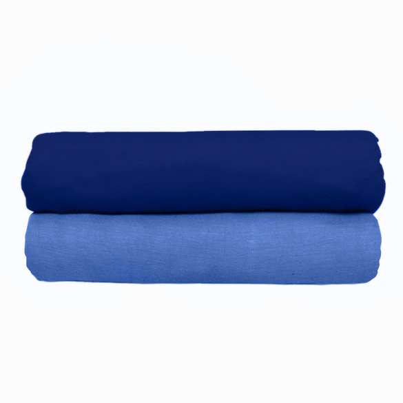 Lot de 2draps-housses, bleu clair