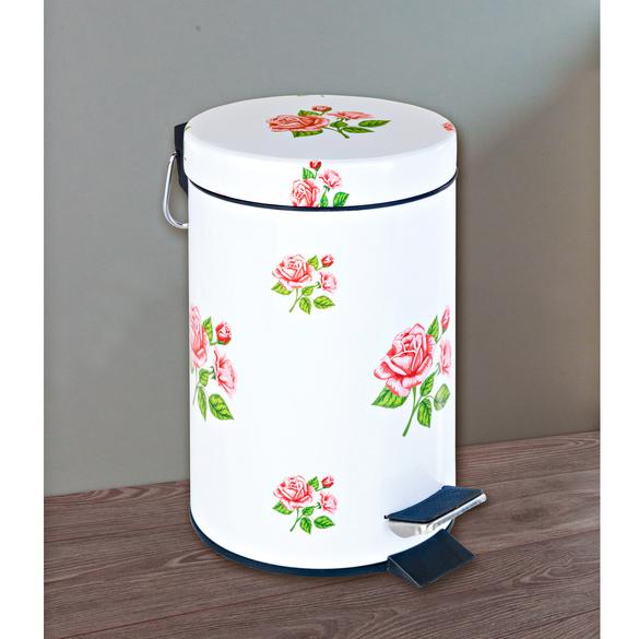 Poubelle de salle de bains Roses