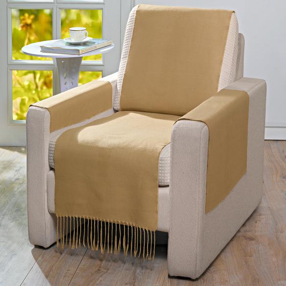 Protège-fauteuil, caramel