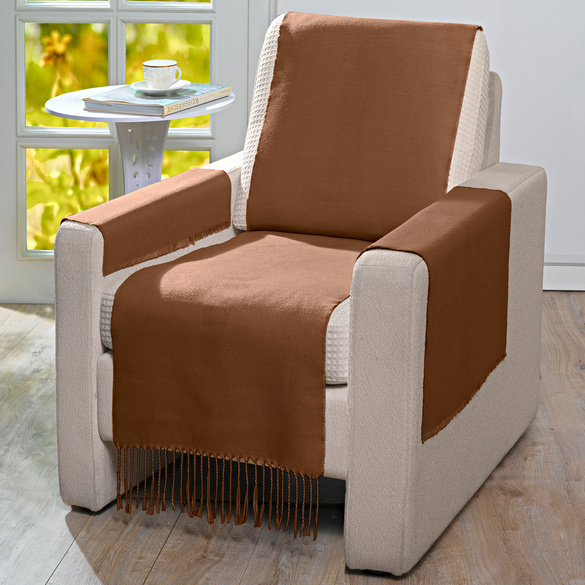 Protection de fauteuil 100x200cm, marron
