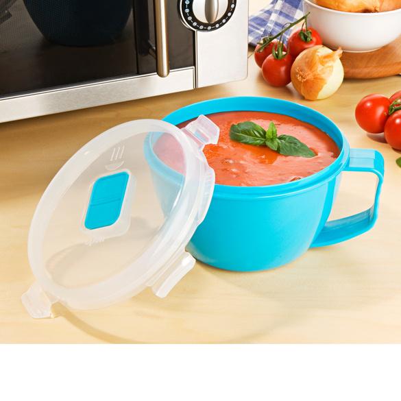 Tasse micro-ondes, turquoise 900 ml
