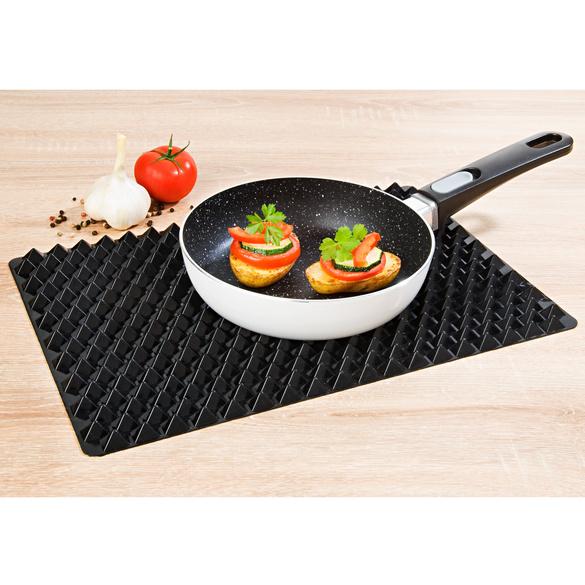 Tapis de cuisson en silicone, noir