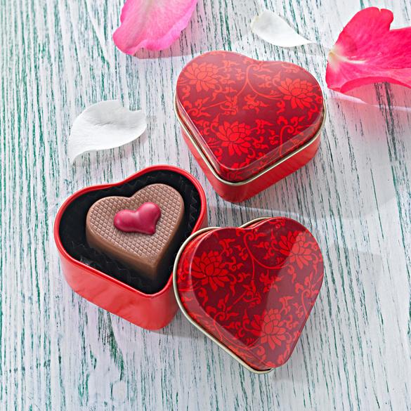Boîte cœur à fleurs