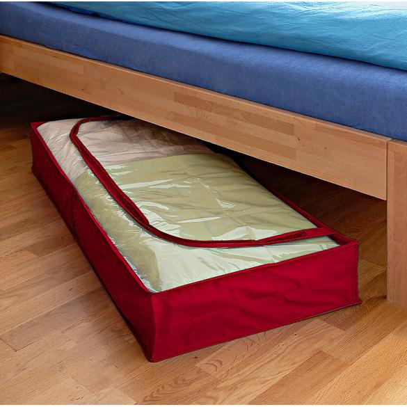 housse dessous de lit antimite rouge vitrine magique. Black Bedroom Furniture Sets. Home Design Ideas