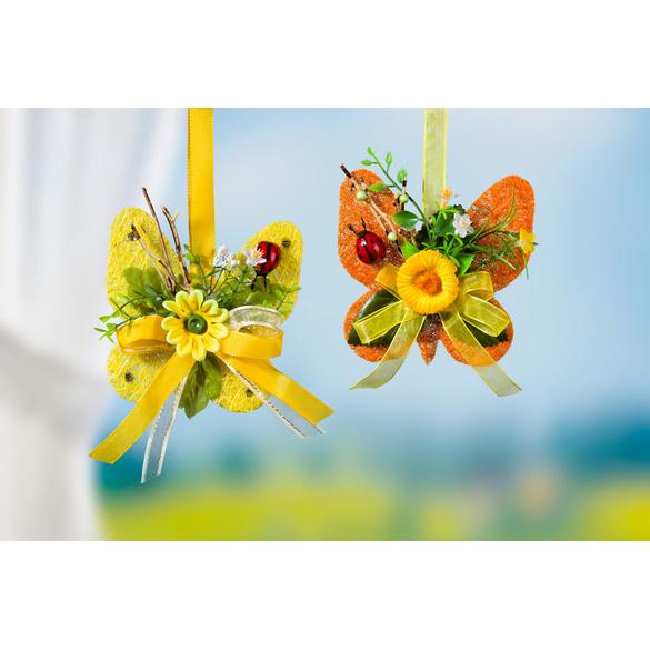 Papillon en sisal, jaune