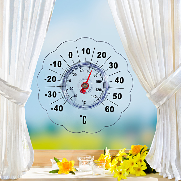 thermom tre d 39 ext rieur fleur vitrine magique. Black Bedroom Furniture Sets. Home Design Ideas