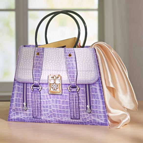 Pochette cadeau grand format, violet