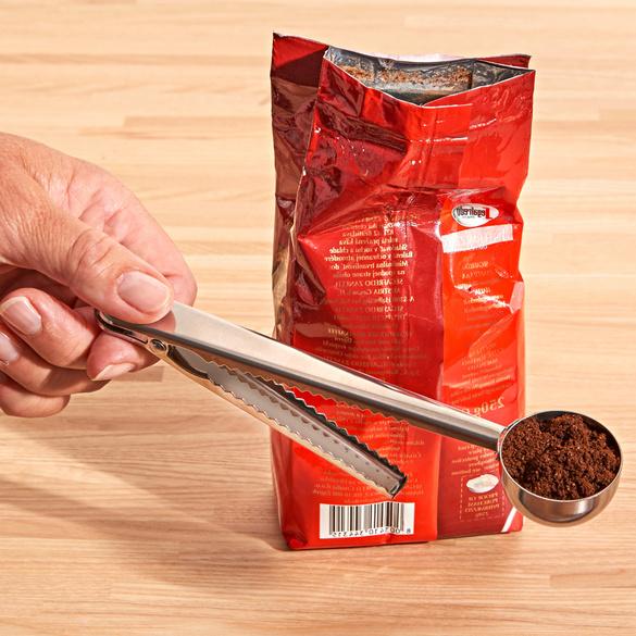 Cuillère à doser pour café 2 en 1 avec clip